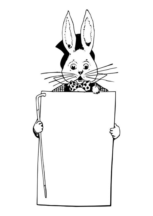 Disegno Da Colorare Coniglietto Pasquale Cat 29567