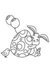 Disegno da colorare Coniglietto pasquale