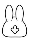 Disegno da colorare coniglio - dietro