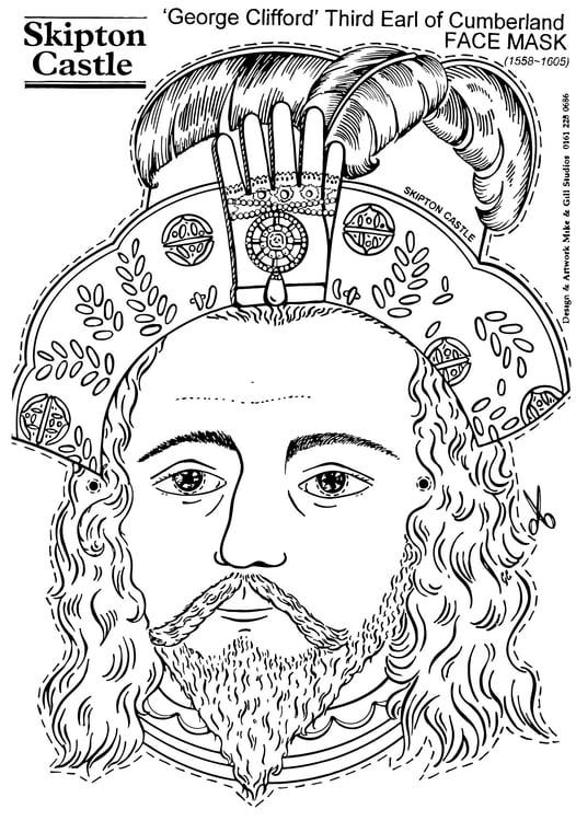 Disegno Da Colorare Conte George Clifford Maschera Cat 14899