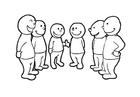 Disegno da colorare conversazione di gruppo