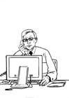 Disegno da colorare conversazione telefonica
