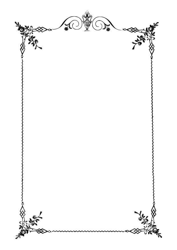 Disegno da colorare cornice elegante cat 27915 for Cornici da foto
