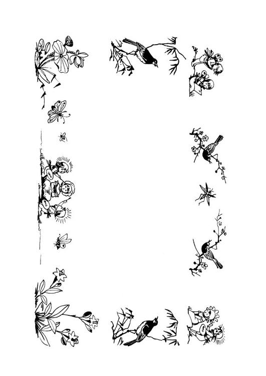 Disegno Da Colorare Cornice Favole Cat 28114