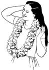 Disegno da colorare corona di fiori