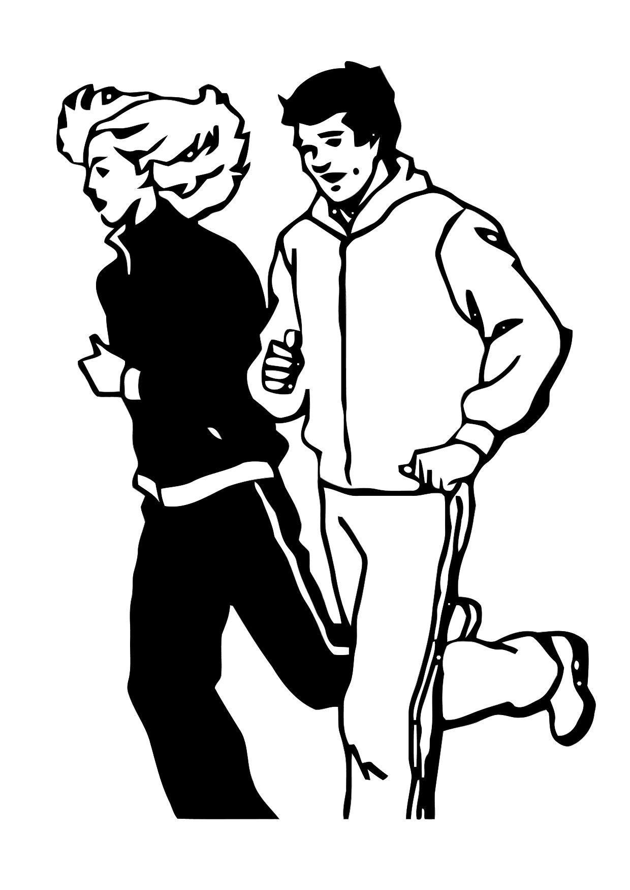 Disegno da colorare correre cat 11903 for Scarica clipart