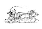 Disegno da colorare corsa dei carri