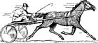 Disegno da colorare corsa dei cavalli