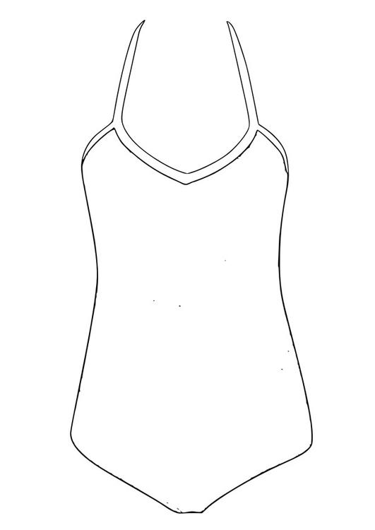 Disegno da colorare costume da bagno disegni da colorare for Disegno bagno online