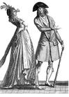 Disegno da colorare costumi alla corte francese 1793