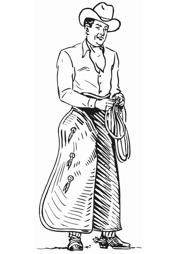 Disegno da colorare cowboy cat 13243 - Cowboy foglio da colorare ...