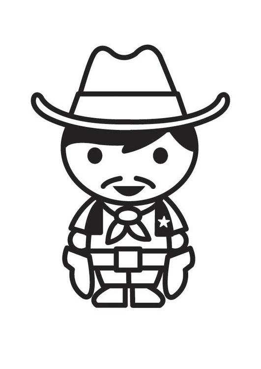 Disegno da colorare cowboy cat 18183 - Cowboy foglio da colorare ...