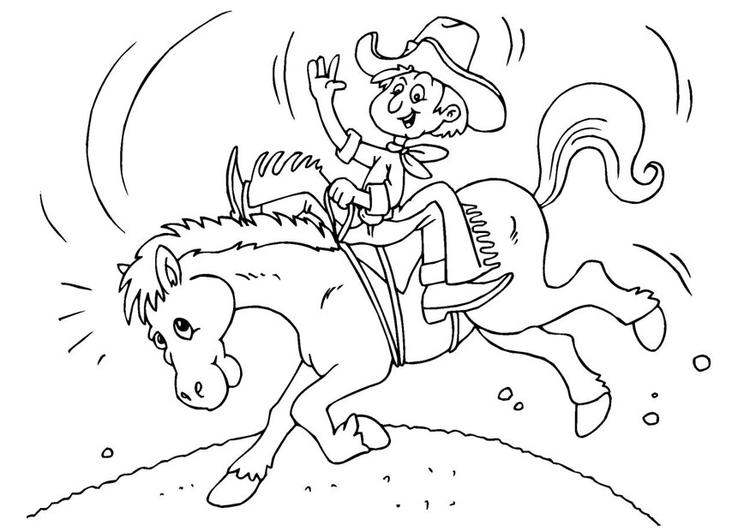 Disegno da colorare cowboy cat 25972 - Cowboy foglio da colorare ...