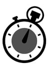 Disegno da colorare cronometro