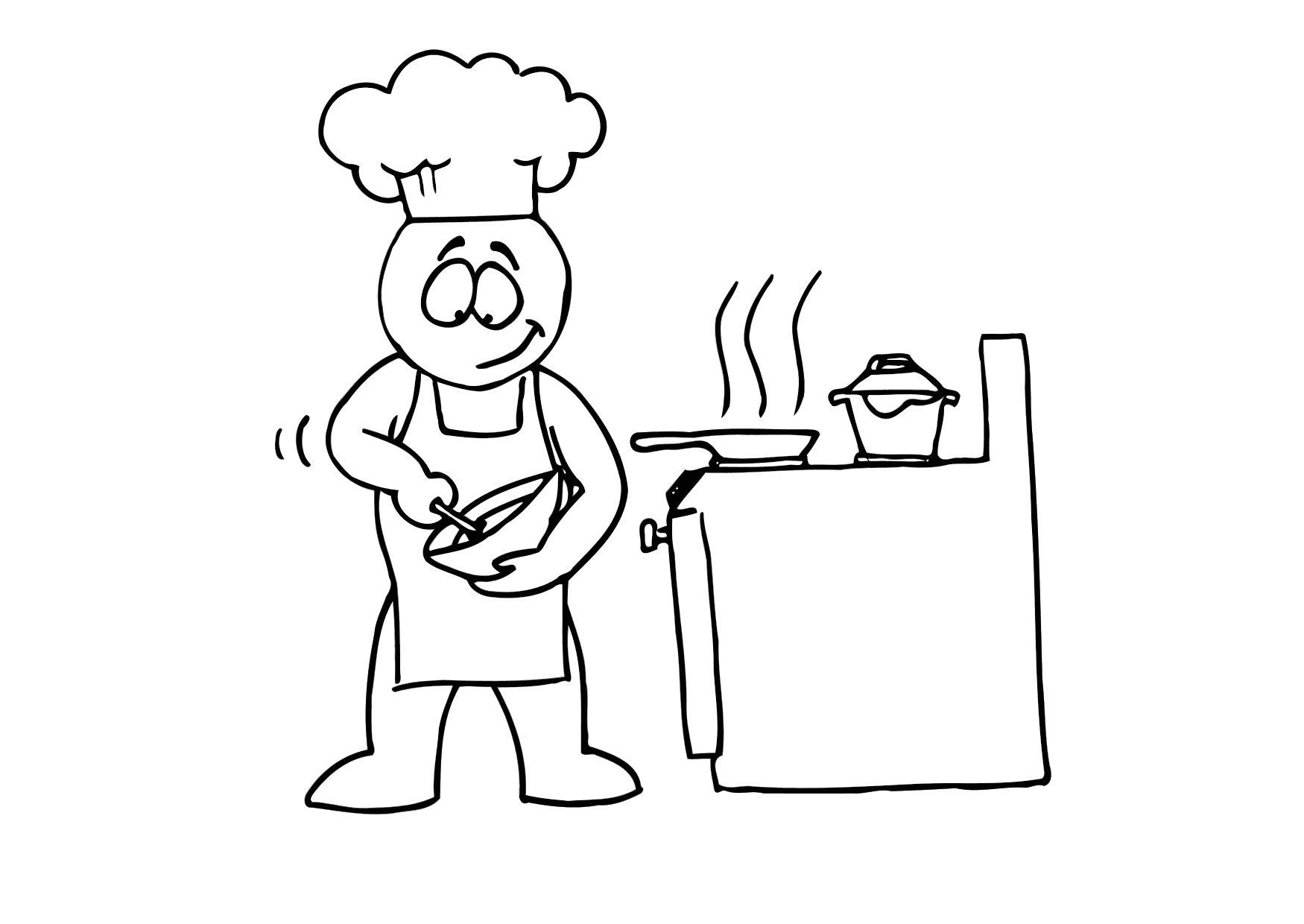 Disegno da colorare cucinare cat 24716 for Cucinare da chef