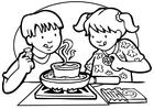 Disegno da colorare cucinare