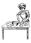Disegno da colorare cuoca