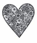 Disegno da colorare cuore con fiori