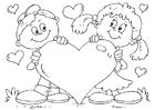 Disegno da colorare cuore S.Valentino
