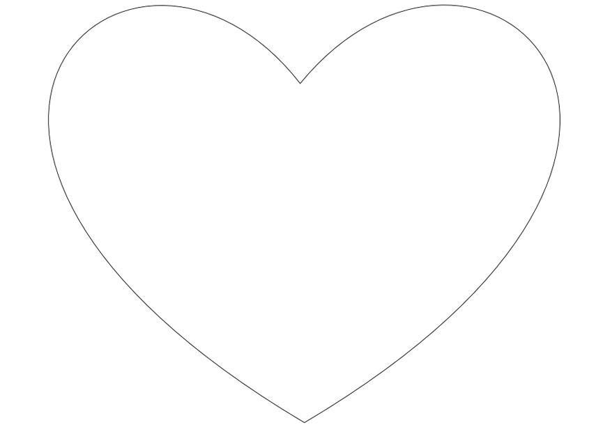 Disegno da colorare cuore semplice cat 10026 for Cuori grandi da stampare