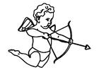 Disegno da colorare Cupido