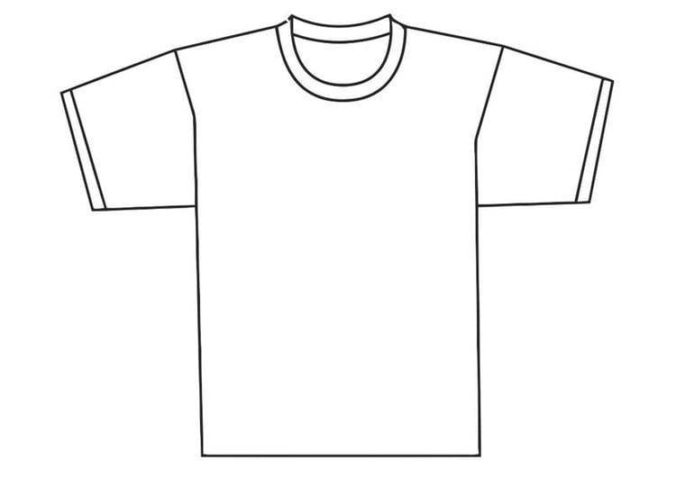 abbastanza Disegno da colorare davanti di una maglietta - Cat. 19345. NV51