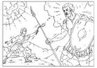 Disegno da colorare Davide e Golia