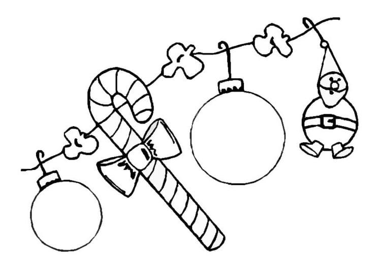Decorazioni Di Natale Disegni.Disegno Da Colorare Decorazioni Natalizie Cat 8646