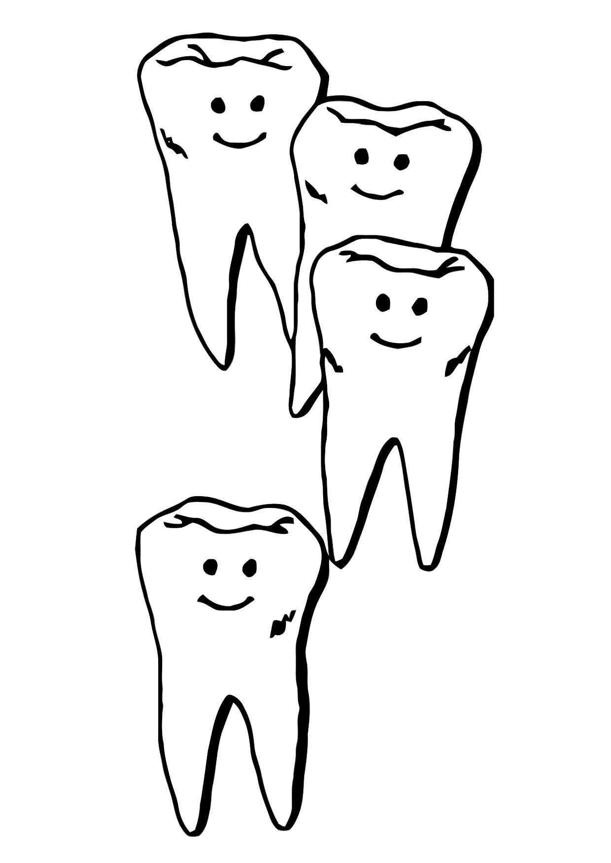 Disegno da colorare denti cat 11861 - Immagini dei denti da colorare ...