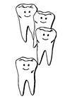 Disegno da colorare denti