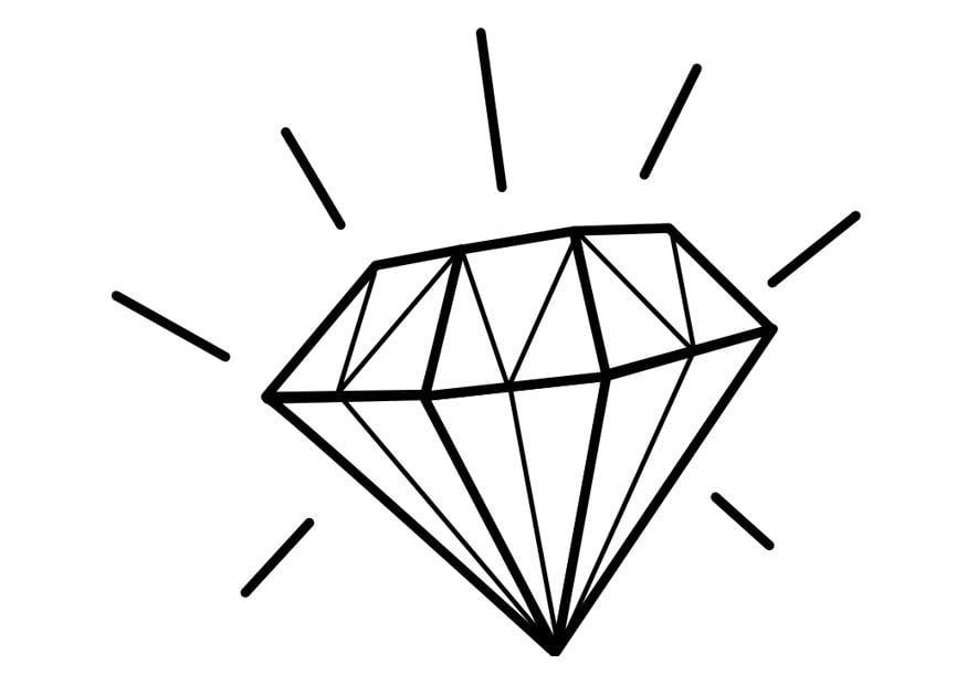 Disegno Da Colorare Diamante