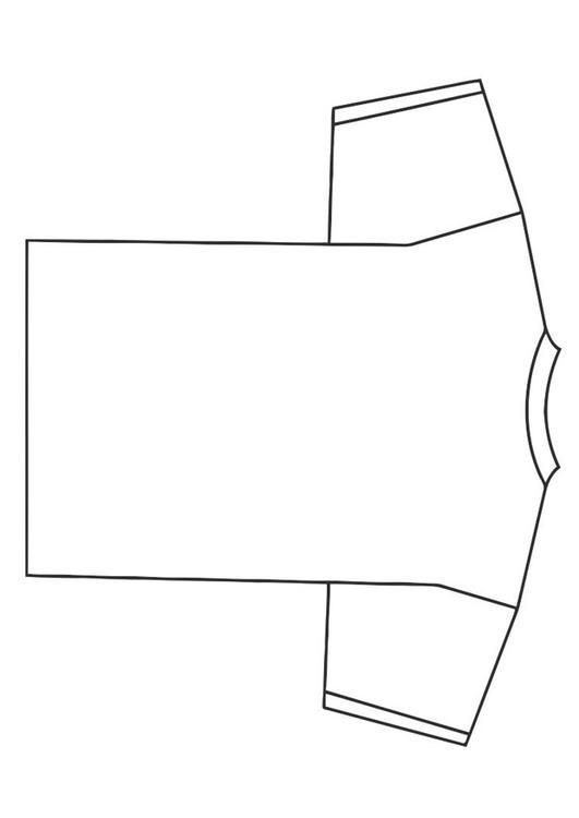 Kleurplaat T Shirt Disegno Da Colorare Dietro Di Una Maglietta Cat 19340