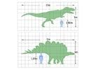 Disegno da colorare dimensioni dei dinosauri