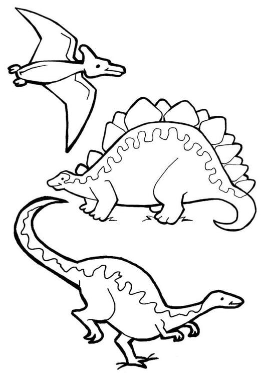 Disegno Da Colorare Dinosauri Cat 7081