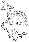 Disegno da colorare dinosauri
