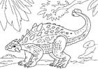 Disegno da colorare dinosauro - ankylosaurus
