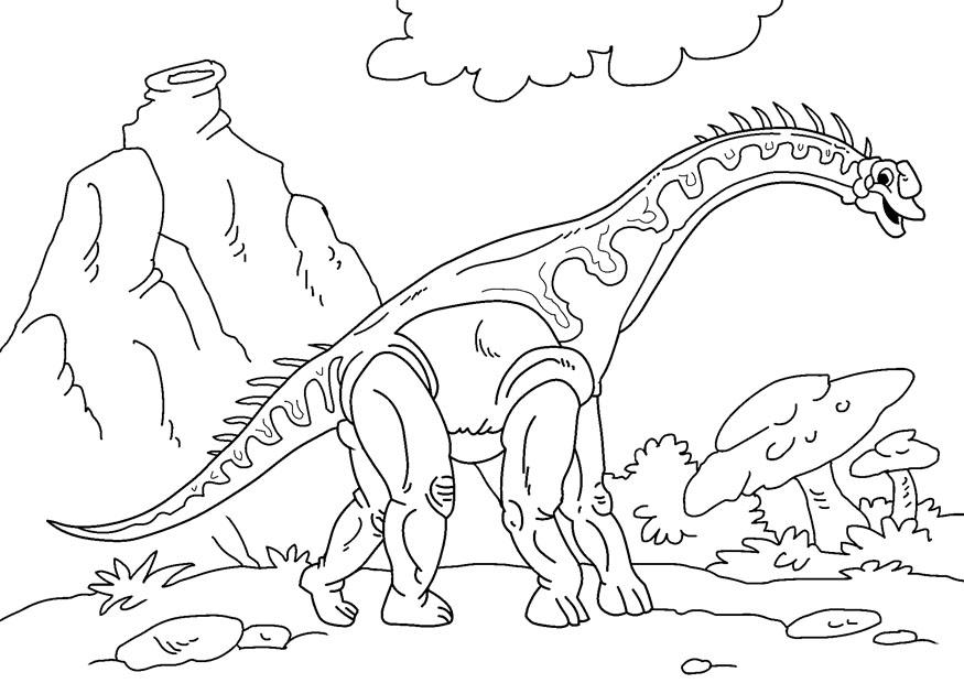 Disegno da colorare dinosauro diplodoco cat 27627 - Dessins de dinosaures ...