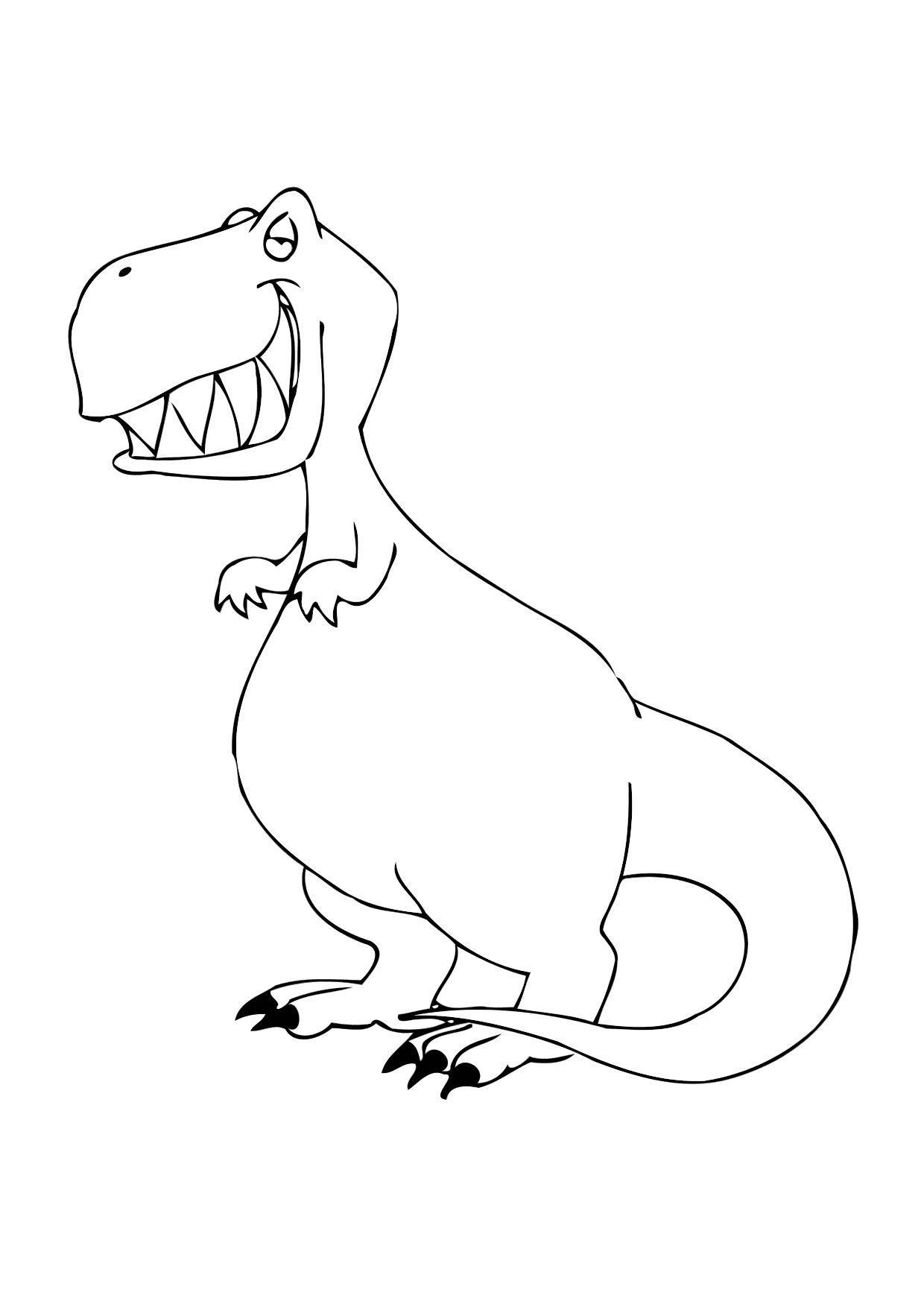 Disegno da colorare dinosauro cat 12304 - Disegno finestra da colorare ...