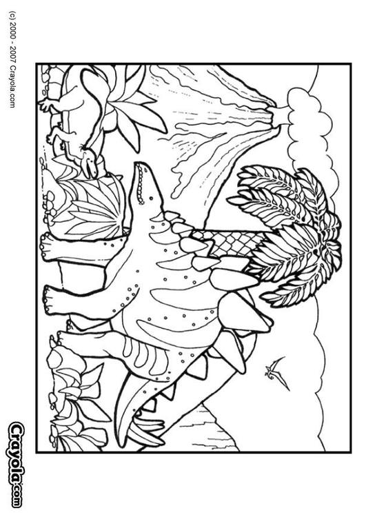 Disegno da colorare dinosauro cat 7834 - Top coloriage dinosaures ...