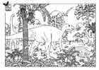 Disegno da colorare dinosauro
