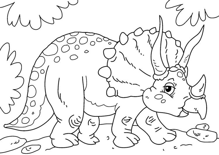 Disegno Da Colorare Dinosauro Triceratopo Cat 27631