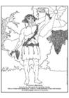 Disegno da colorare Dioniso - Bacco