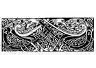 Disegno da colorare disegno celtico