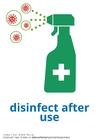 Disegno da colorare disinfettare dopo l'uso