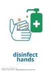 Disegno da colorare disinfettare le mani