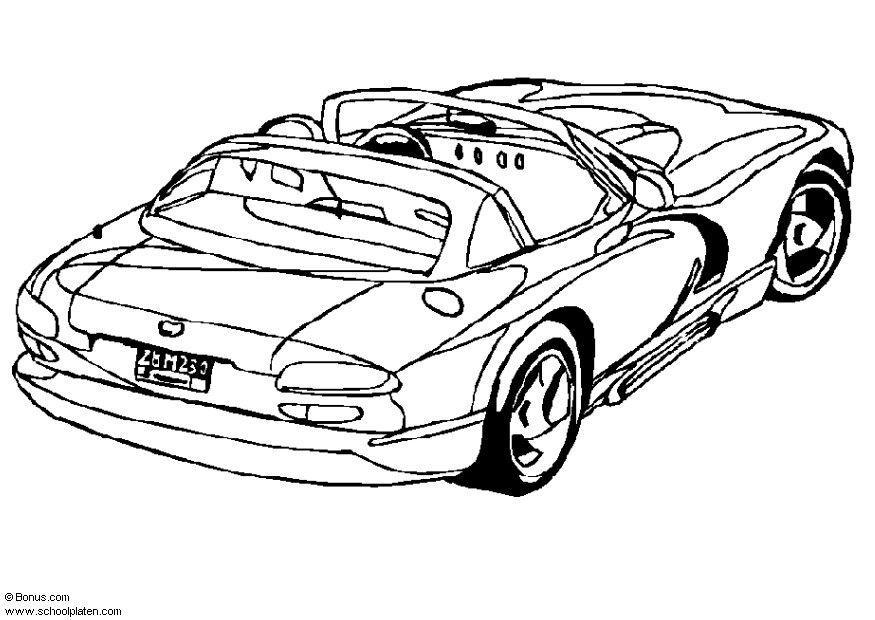 disegno da colorare dodge viper