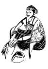 Disegno da colorare donna africana