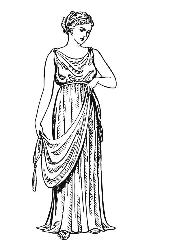 athens clothing coloring pages - photo#21