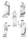 Disegno da colorare donne dell'antica Grecia