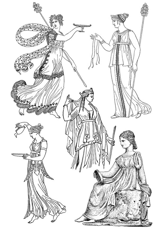 athens clothing coloring pages - photo#37